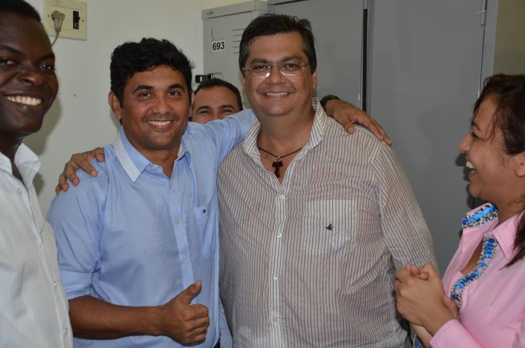 Wellington do Curso com Flávio Dino. Foto: Hilton Franco