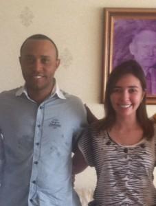 Beto Castro e a presidente do PROS Mulher, Patrícia Vieira
