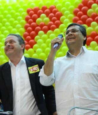 Flávio Dino e Eduardo Campos na largada da campanha