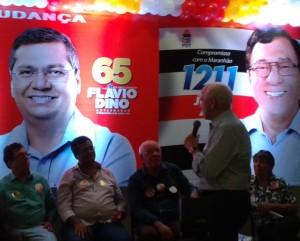 Edson Araújo junto a Flávio Dino e Julião Amim recebe apoio do ministro Manoel Dias