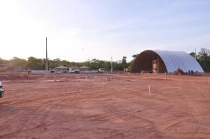 Canteiro de obras do Parque Industrial