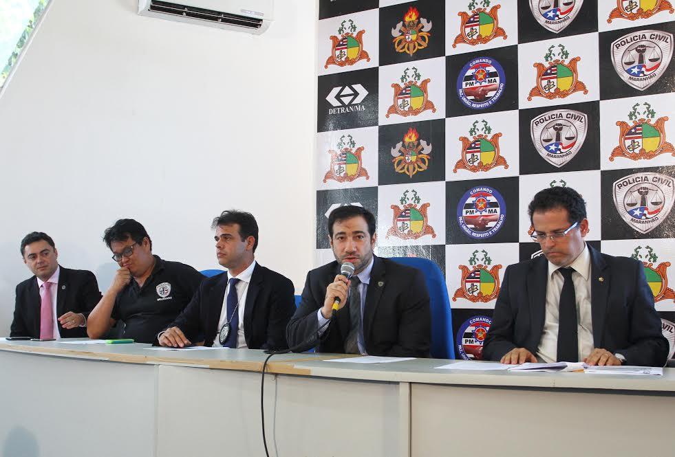 Cúpula da segurança fala sobre operação contra a prática da agiotagem no Maranhão.