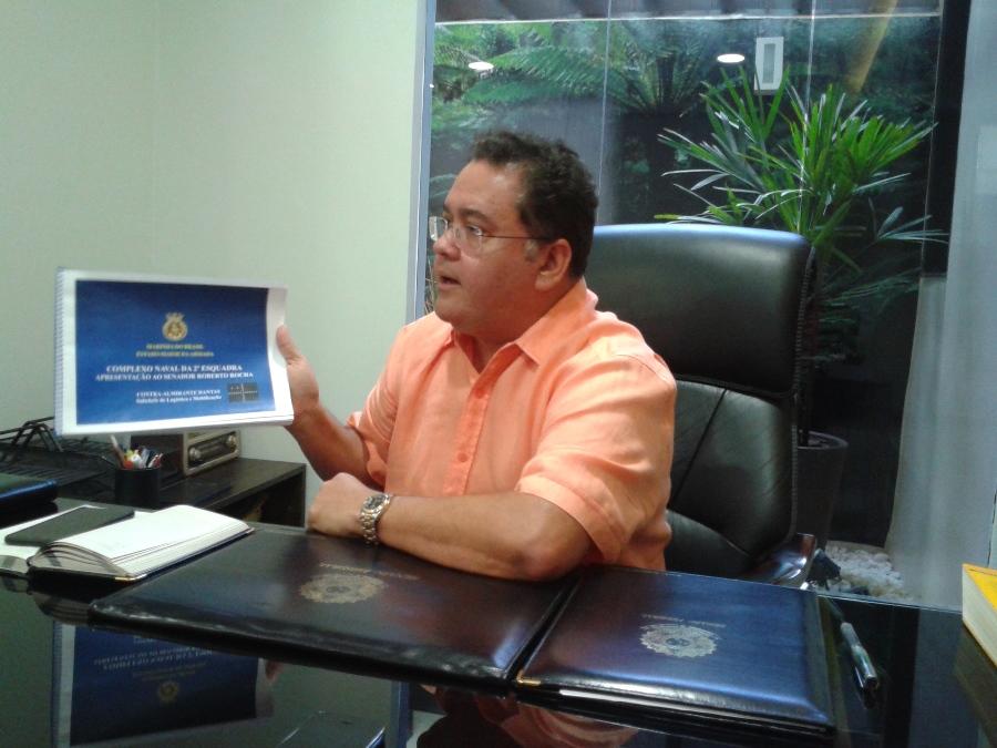 Senador apresenta projeto de base naval para São Luís