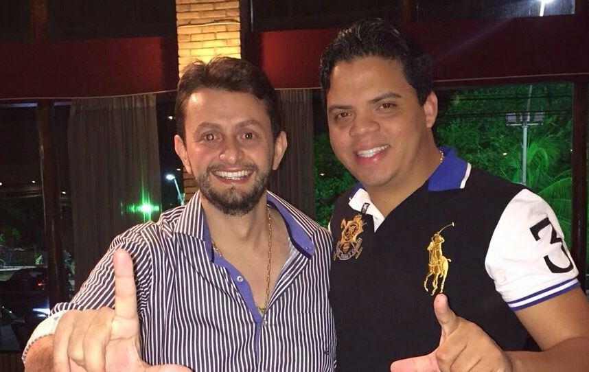 Chapa fortíssima em Pinheiro: Luciano Genésio e Leonardo Sá